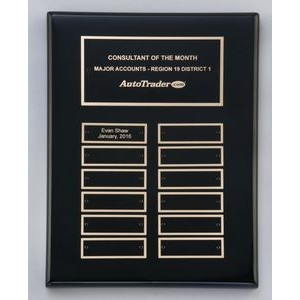 Black Piano Finished Perpetual Plaque - 9''x12''